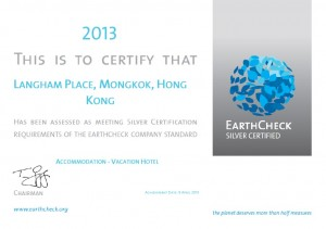 Langham Place, Mongkok, Hong Kong has been awarded EarthCheck Silver Certified status
