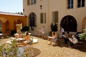 Chateau Lou Casteou Courtyard