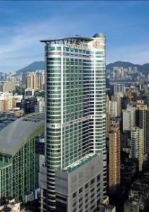 Modern luxury hotel, Langham Place, Mongkok, Hong Kong
