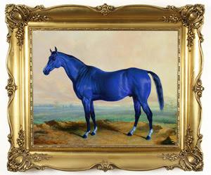 gold frame Lex Horse