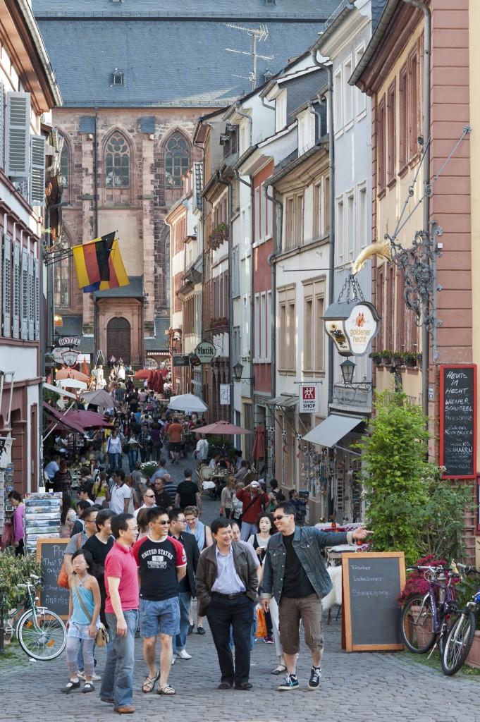 Touristen Heidelberg Roth