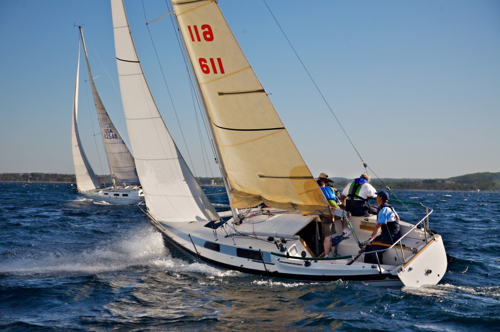 Sailing on West Grand Traverse Bay