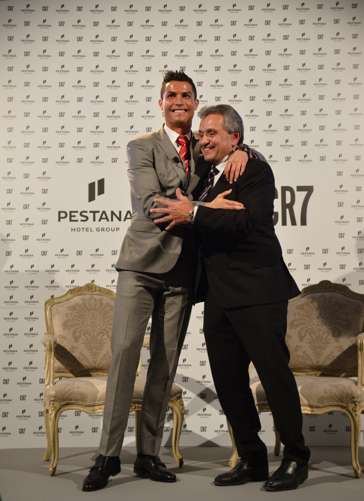Cristiano Ronaldo and Dionísio Pestana