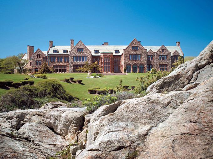 House showing Rocks The Newport Restoration Foundation, which was founded by Doris Duke in 1968, will host two music programs this summer at Rough Point, her Newport, RI, home which is now a house museum.