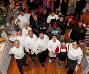 2012 Chefs at the Claw Down, photo by Ted Axelrod