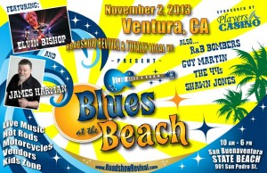 "Official ""Blues at the Beach"" poster"