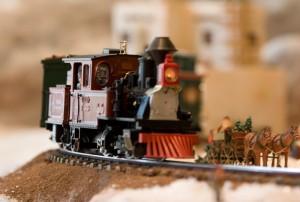 Upper Train in Gingerbread Village Courtesy of Sheraton Phoenix Downtown Hotel